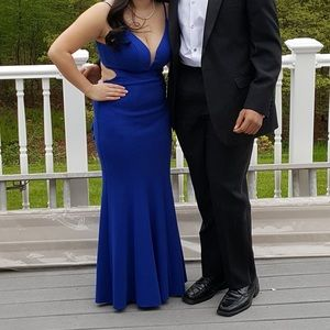 Blue Prom Dress with Butt Ruffle